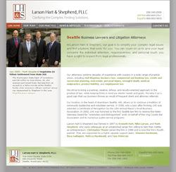 web site screenshot